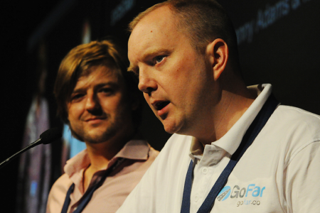 GoFar Founders Danny and Ian Pitch at SydStart 2014