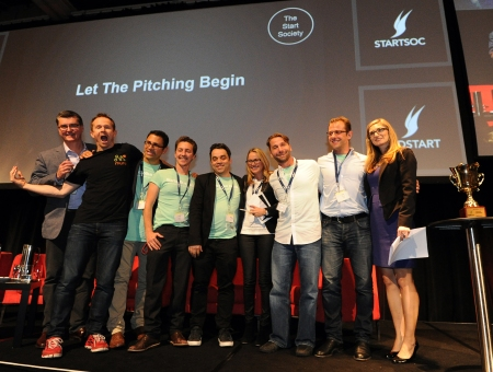 StartupBus winners on the big stage at SydStart 2014